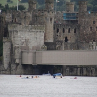 Paddle at Conwy Castle