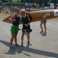 Lisa Teichert und Susanne Walter glücklich nach dem Rennen