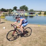 Jacqueline Davies on the bike