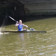 Michael Mason is fast in the kayak, but not fast enough