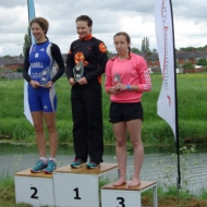 Podium women: Helen Russel, Becky Robertson and Jenny Illidge