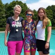 Die schnellsten Damen Gabi Menge, Lisa Teichert, Franziska Eberhardt