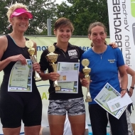 Podium women: Gabi Menke, Lisa Teichert and Susanne Walter