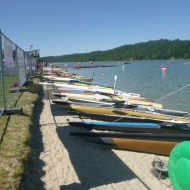 The kayaks are waiting