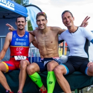 Happy at the finish: Monteagudo, Svoboda and Teichert