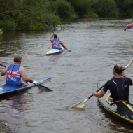 John Kavanagh, Cliff Odgers and Ross Wilkinson at the kayak