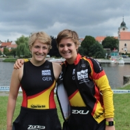 Strong German women: Annika Oetjens and Lisa Teichert