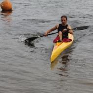 Suanne Walter im neuen Boot