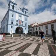Run in the historic old town