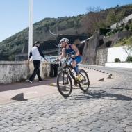 The Frenchman Laurent Martinou is running forward again
