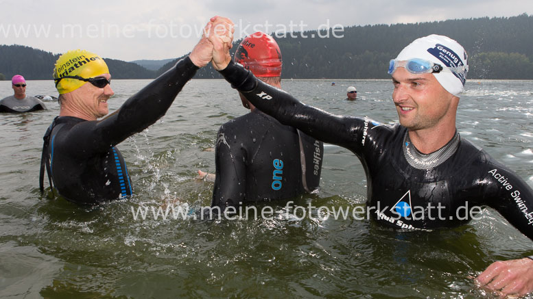 Jürgen Kastner and David Kunderer (both GER) at Bergsee Quadrathlon Ratscher (GER) 2014 (c) A. Ickert