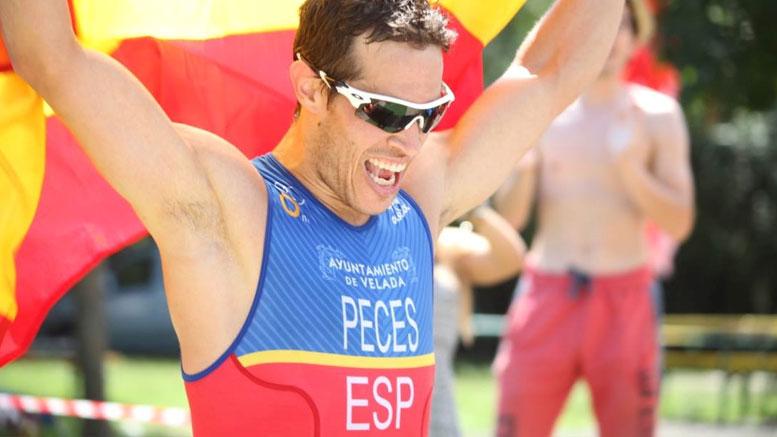Erique Peces (ESP) at the Quadrathlon Samorin (SVK) 2016 (c) Slovenská triatlonová únia