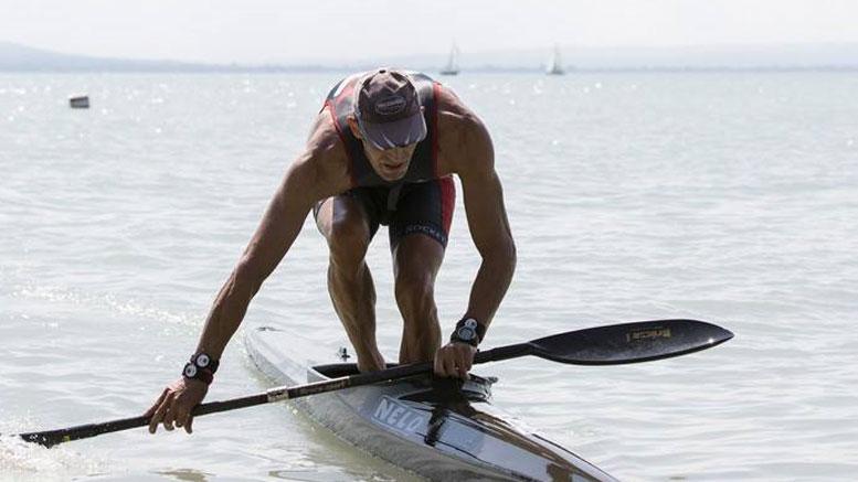 Ferenc Csima (HUN) at the Balaton Sprint Quadrathlon (HUN) 2016 (c) seakayaking.hu