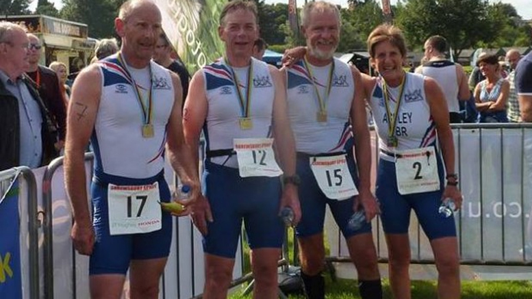 Peter, John, Ned and Jean at the Shrewsbury Quadrathlon (GBR) 2015 (c) BQA