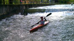 David Kunder (GER) at the Canoe-triathlon München (GER) 2015 (c) S. Teichert