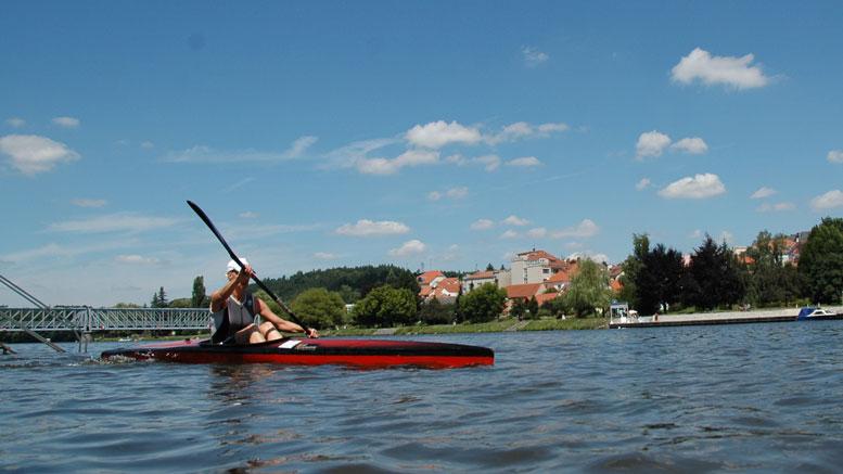 Ellen Mielke (GER) at Quadrathlon Týn nad Vltavou (CZE) 2011 (c) canoemar.cz