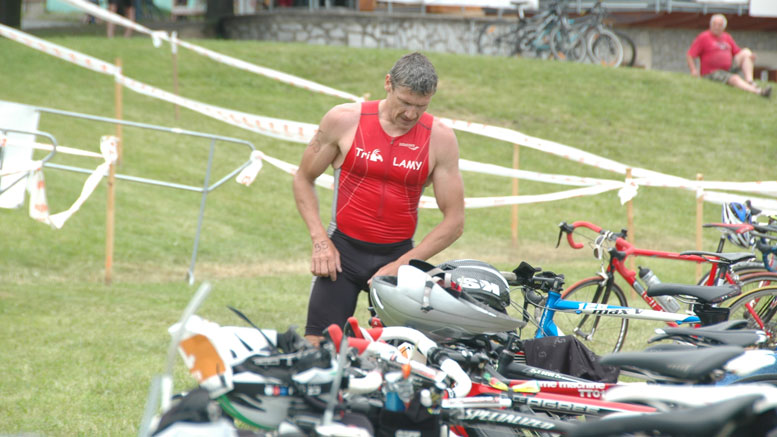 Miroslav Podborsky (CZE) at Quadrathlon Týn nad Vltavou (CZE) 2013 (c) canoemar.cz
