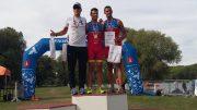 Tomáš Svoboda (CZE), Enrique Peces (ESP), Jonathan Monteagudo (ESP) at Quadrathlon Komárno (SVK) 2017 (c) S. Teichert