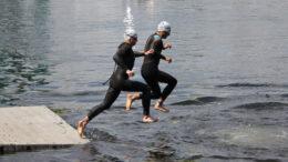 Start of two athlets at Quadrathlon Bydgoszcz (POL) 2021 (c) L. Rohde