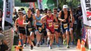 Start of the Sprint Duathlon (Quadrathlon) Kaposvar (HUN) 2021 (c) L. Rohde