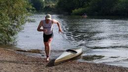 Phil Holen after the kayak at Shrewsbury Quadrathlon (GBR) 2021 (c) SYtri